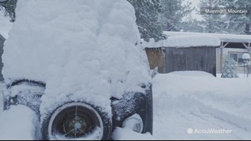 California ski resorts blanketed with feet of snow