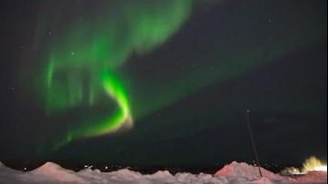 Northern lights dazzle night sky in Alaska