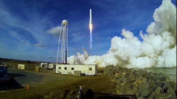 Rocket launches to make a special delivery