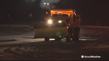 Snow plows working around the clock to keep roads clear