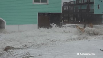 Strong storm blasts the Outer Banks with massive waves