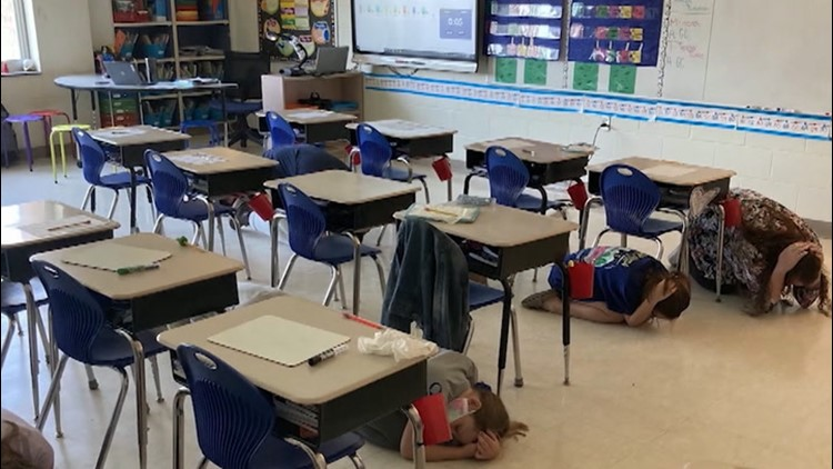 Schools practice weather safety while social distancing