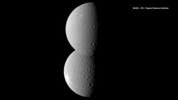 Saturn's Moons Align to Form a Snowman in Space