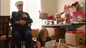 104-year-old military veteran gets more than 70,000 Valentine's Day letters