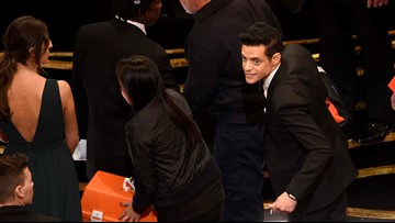 Rami Malek fell, had to be checked out after Oscars win