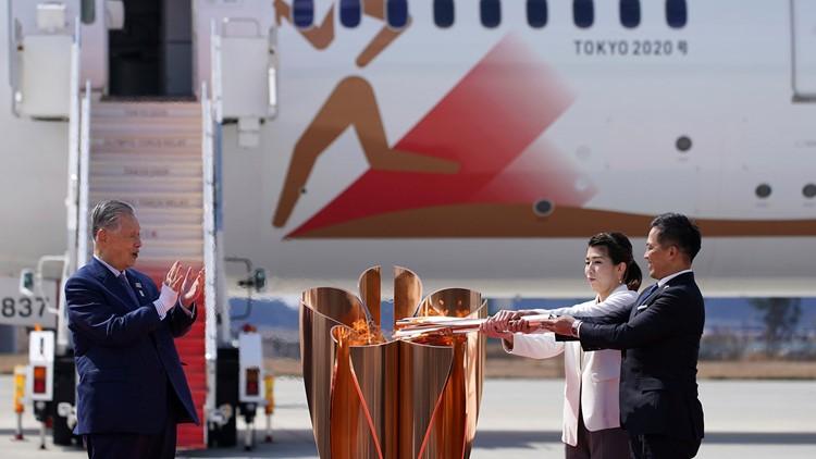 APTOPIX Olympics Tokyo 2020 Torch Arrival