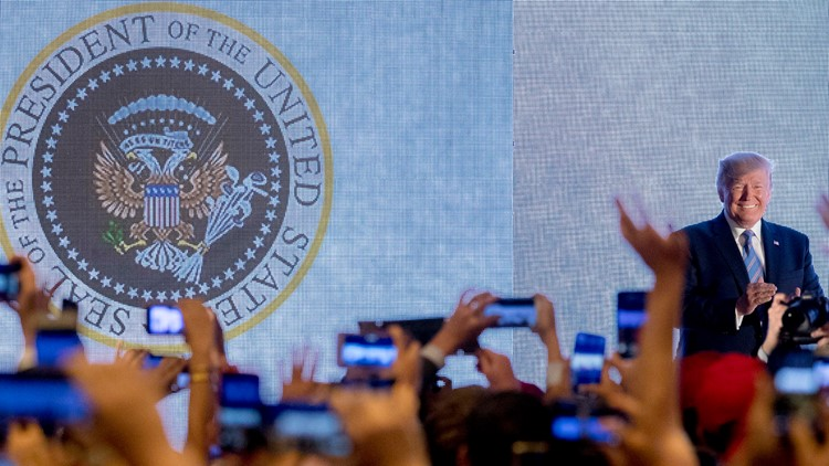 Trump Turning point altered seal
