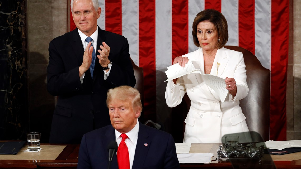 VERIFY: Did Speaker Pelosi break the law when she ripped President Trump's speech?