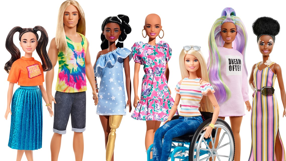 Barbie launches new dolls with hairloss, vitiligo skin condition