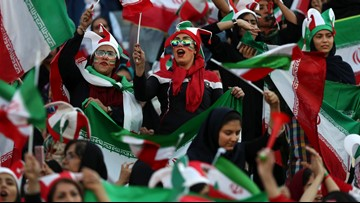 Iran women attend FIFA soccer game for first time in decades