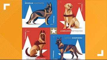USPS releases new Forever stamps honoring military dogs