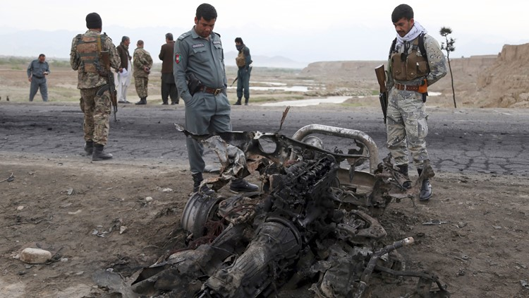 Afghanistan attack US Troops April 9 AP