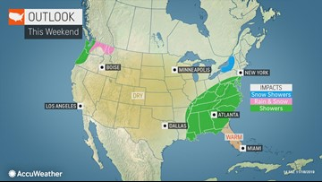 Storms could pester, disrupt 2019 Thanksgiving travel across U.S.