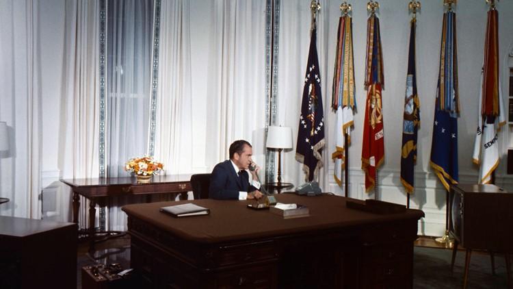 President Nixon calls the Moon