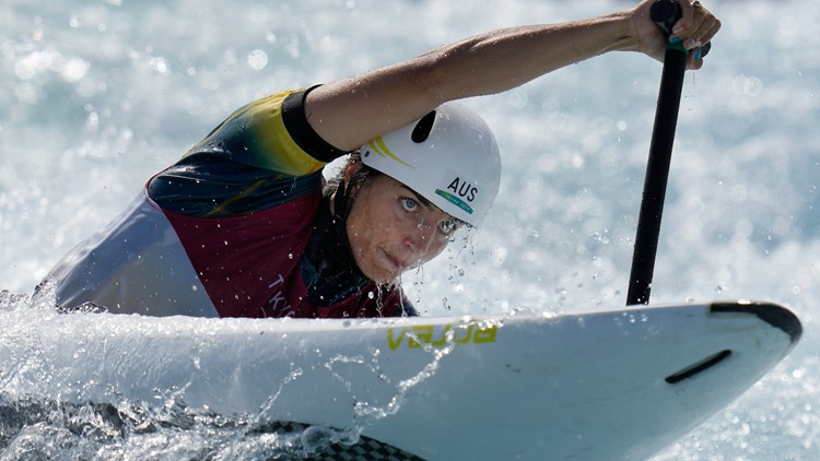 Check out what this Australian Olympian used to patch her kayak