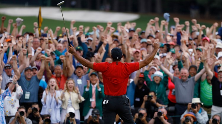 Tiger Woods AP Masters Golf winning April 2019