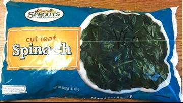 Frozen spinach recalled for listeria contamination