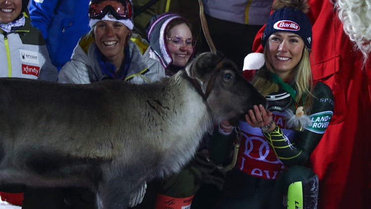 Shiffrin reindeer Finland Alpine Skiing World Cup