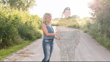 Nebraska teen honors late father in senior pictures