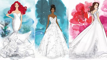These Disney-inspired wedding dresses will let you channel your inner princess
