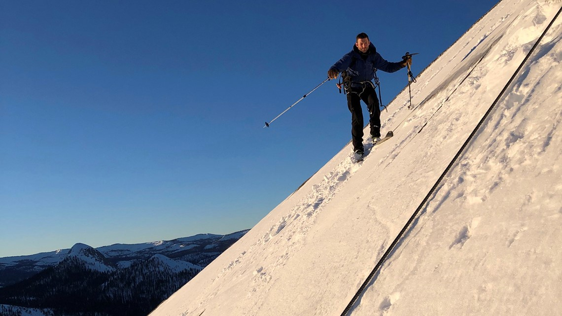 'If you fall to your left or right, you're definitely dead': 2 skiers descend Yosemite's Half Dome