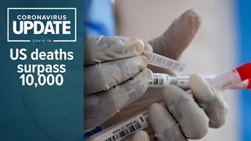 Coronavirus live updates: US death toll surpasses 10,000