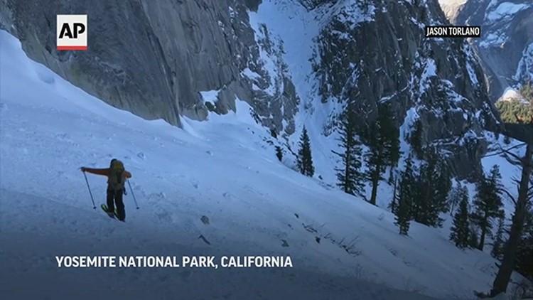 Skiers on Yosemite's Half Dome defy death