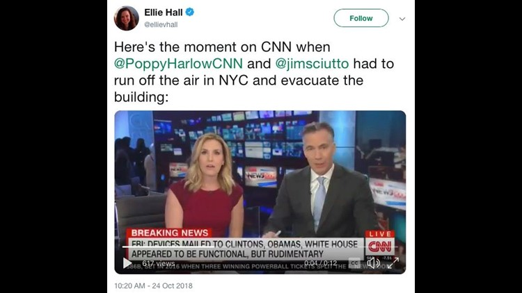 CNN office evacuates while live on air after 'explosive