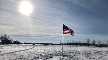 Landowners plant flag near fatal MN National Guard helicopter crash site