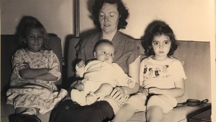 Denice Juneski (far left) was the lone blonde in her family