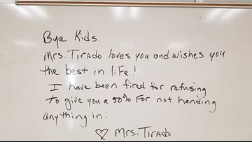 When students didn't turn in work, they got zeroes. Then their teacher was fired