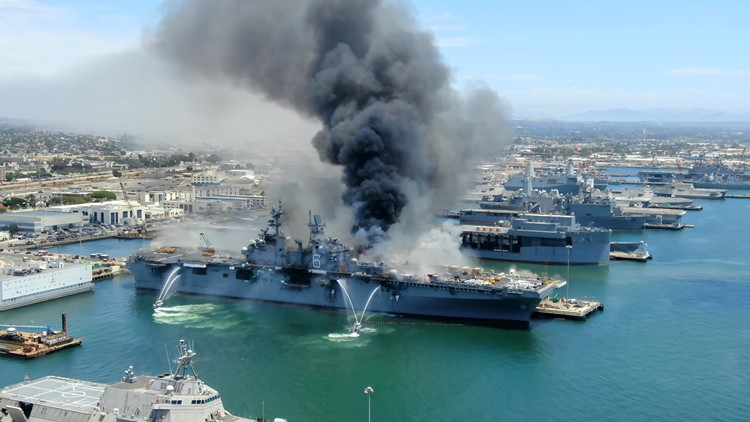 Navy Sailor charged for fire started on USS Bonhomme Richard, destroying warship