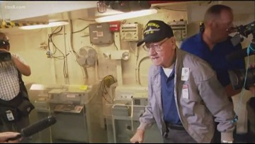 97-year old veteran returns to the USS Midway