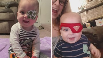 Community rallies around 10-month-old battling cancer in both eyes