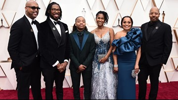 Barbers Hill student gets shout-out at Oscars, walks Red Carpet with 'Hair Love' creators