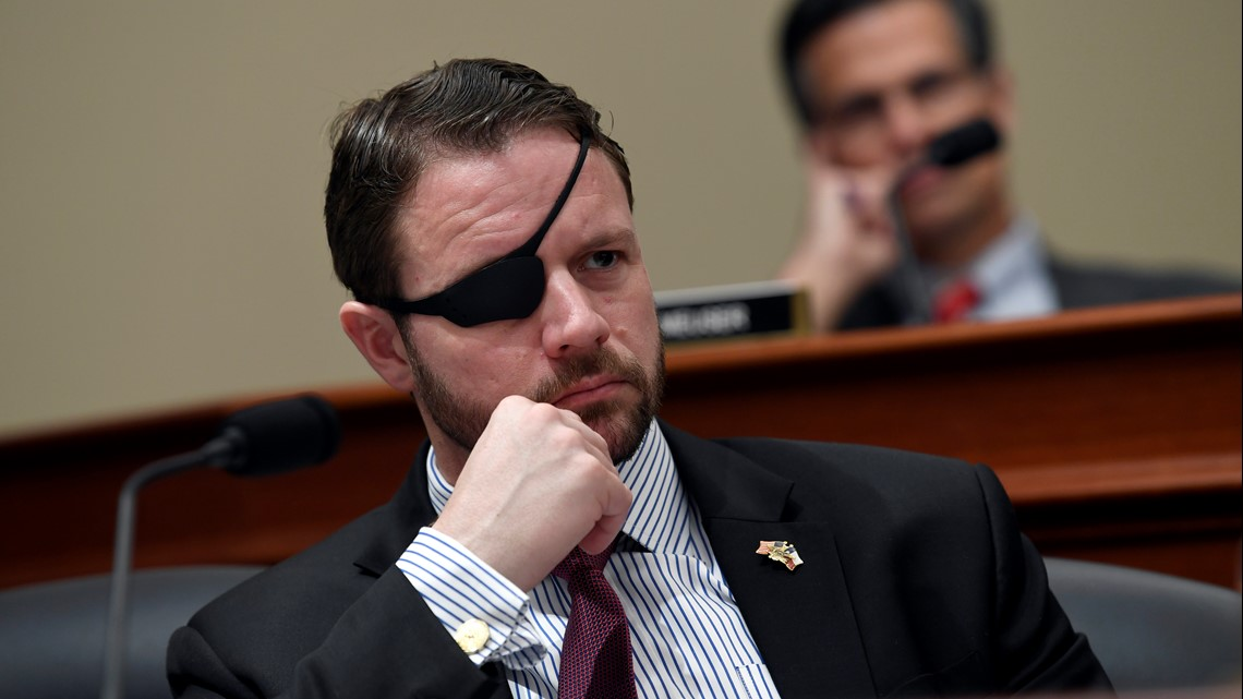 Texas Rep. Dan Crenshaw temporally blinded following eye surgery