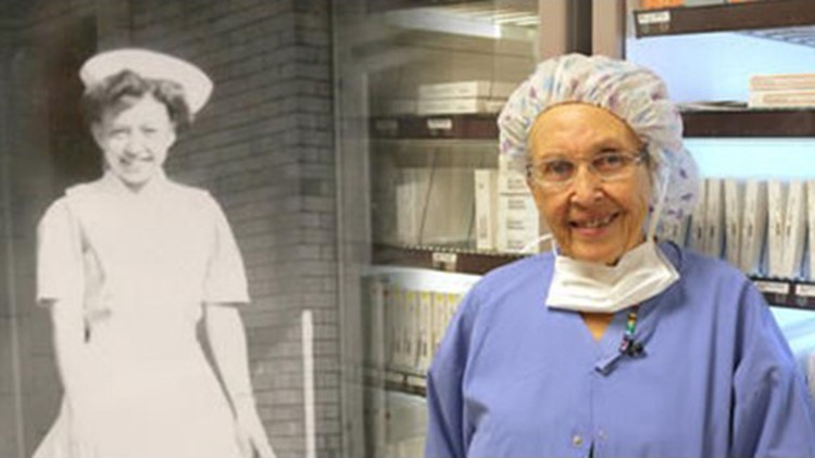 Oldest working nurse in the country retires