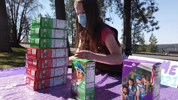 'It makes me feel excited': Girl Scout to donate 200 boxes of cookies to the military