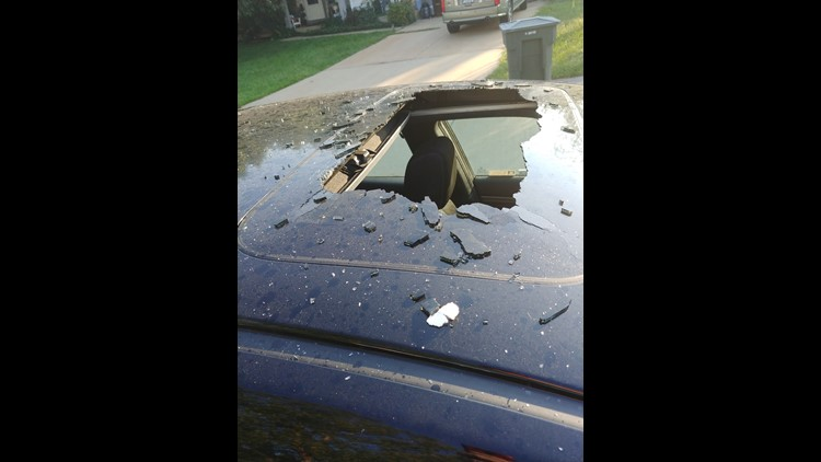 Dry shampoo can smashes through sunroof