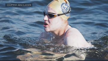 Cancer survivor is the first to swim English Channel 4 times without stopping