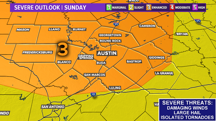Severe Outlook | Sunday