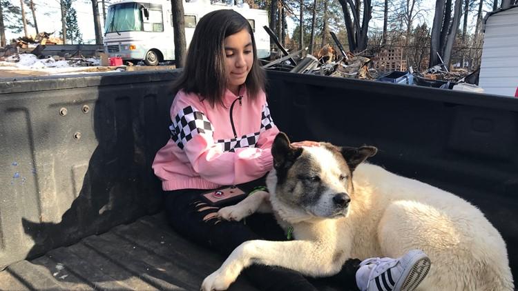 Maleah Ballejos is back with her beloved dog Kingston