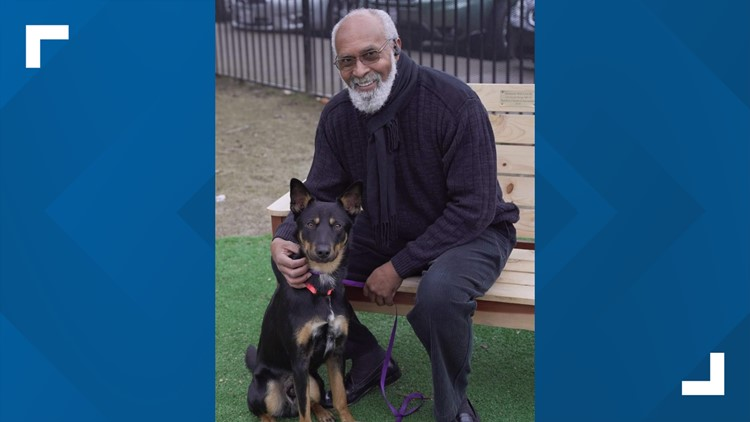 Ralph Johnson poses with his best friend Cognac