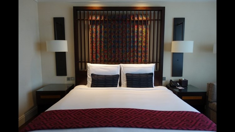 There's nothing like coming back to a perfectly clean hotel room like this one at the Kempinski Gold Coast in Accra, Ghana. (Photo by Lori Zaino)
