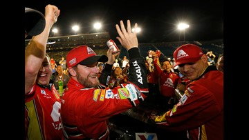 Dale Earnhardt Jr. leaves amid tributes and tears on final day in NASCAR Cup racing