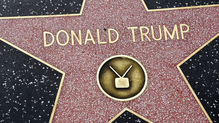 President Trump's walk of fame star is destroyed - again