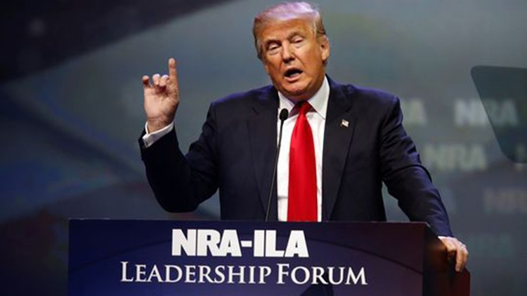 Donald Trump speaks at last year's NRA convention in Louisville, Ky. (Photo: Alton Strupp, The Courier-Journal)