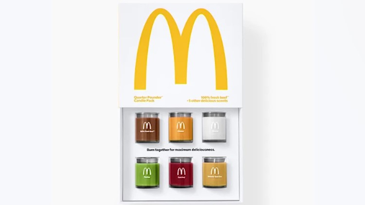 McDonald's makes candles that smell like cheeseburgers