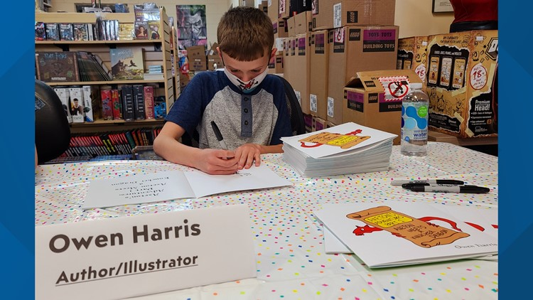 The adventure is just beginning   10-year-old hosts book signing after publishing first book