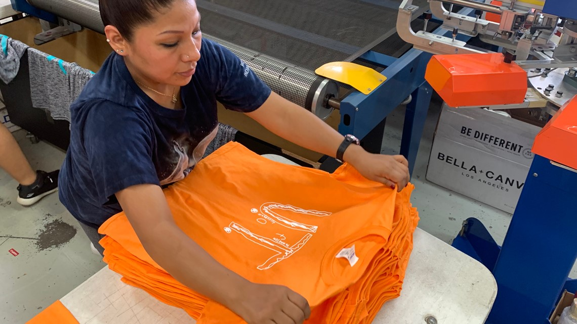 'It's an absolute movement': With more than 71,000 orders to fill, there's no slowing down for company producing boy's UT shirt design